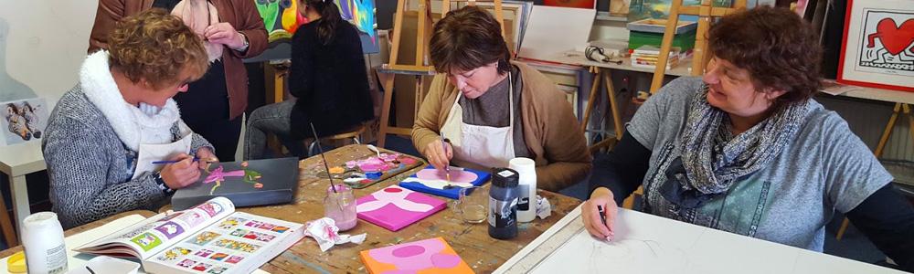 Cursisten bezig met een workshop