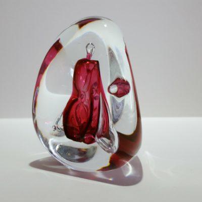 Paperweight Roze Vlam